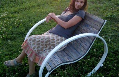 Кресло качалка- Инь Янь