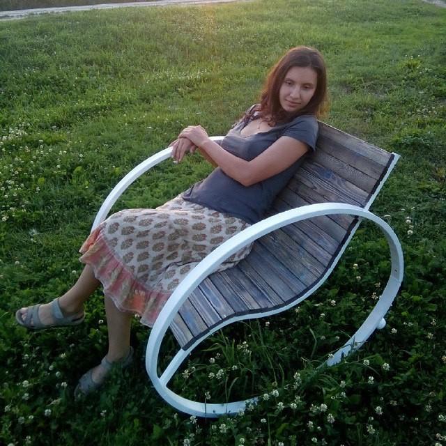 Уличное кресло кресло качалка- Инь Янь