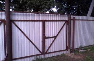 Ворота из профнастила 4х2м в шолохово