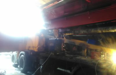 Сварка спецтехники- ремонт рамы на бетононасосе