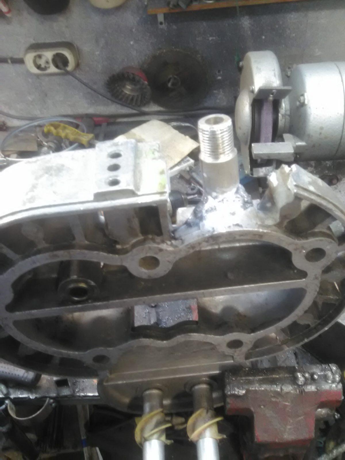 сварка штуцера головки компесора аргоном 1000руб