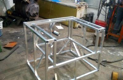 Алюминий-каркас кресла -аргоновая сварка в лобне и долгопрудном
