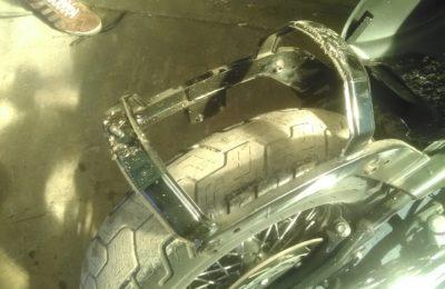 Приварили гайку крепления сиденья на мотоцикле