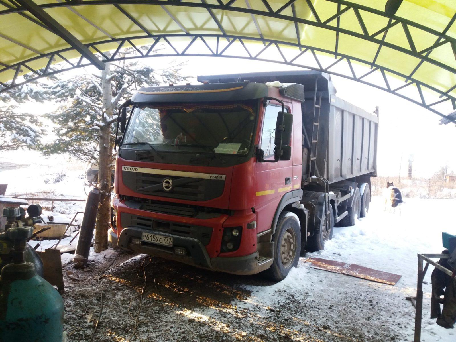 Сварочный ремонт гидроцилиндра на грузовике