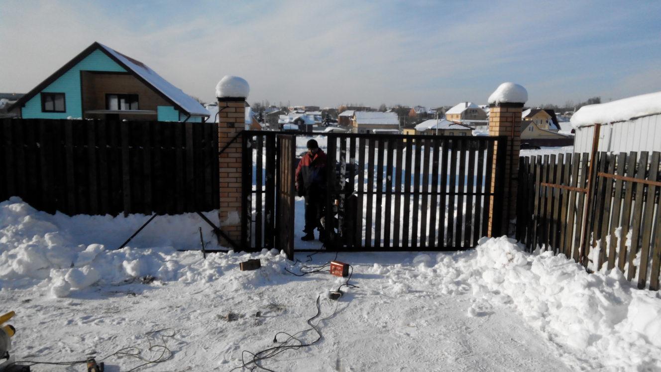 Установка откатных ворот в лобне