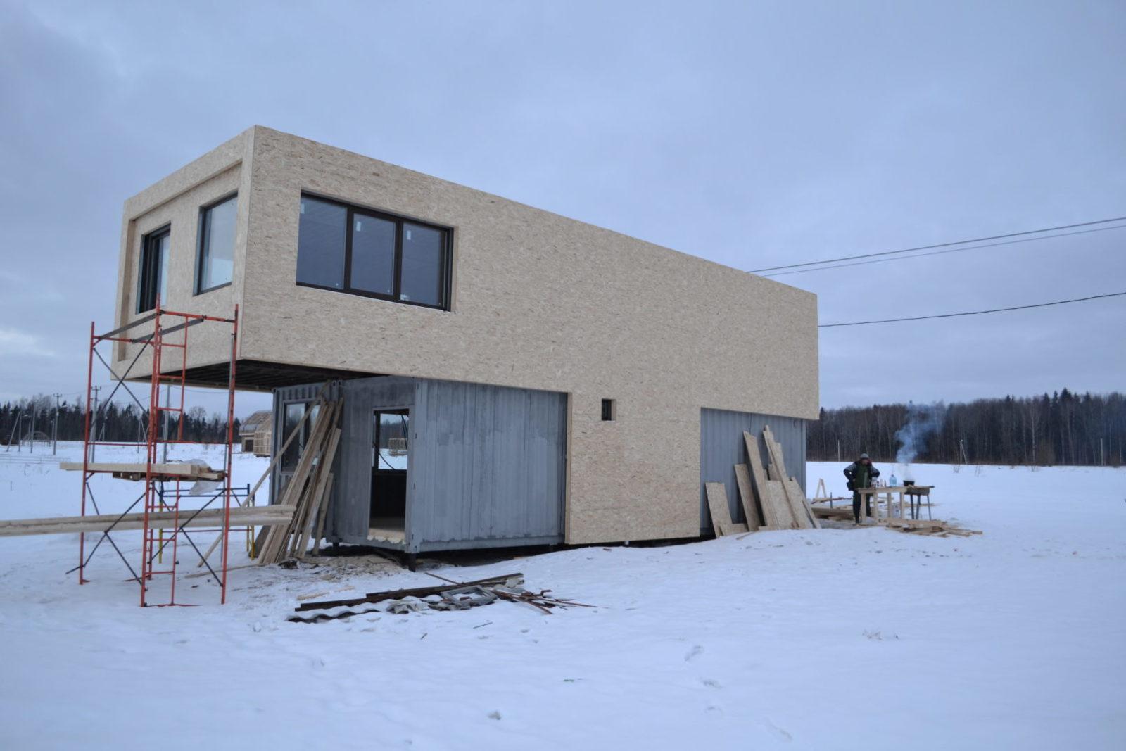 модульный дом +из блок контейнеров