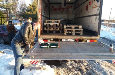 Ремонт аргоном гидроборта на грузовике