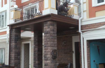 Дутая решетка -французкий балкон в долгопрудном