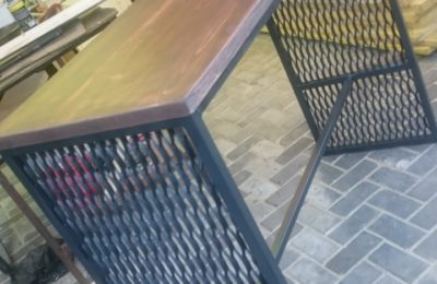 Барный Стол с сеткой в стиле Лофт