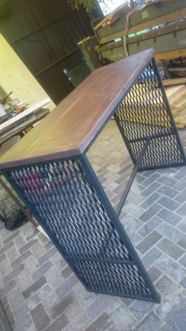стол лофт с сеткой