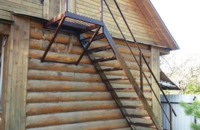 Уличная Лестница из Металла в Лобне