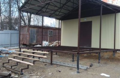 Навес в Икше -открыли строй-сезон март  2019