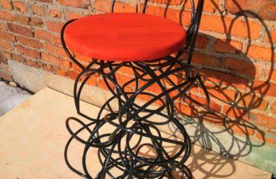 Необычный барный стул Лофт из прутка