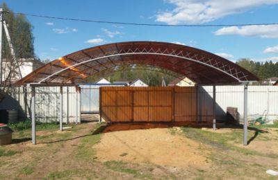 Навес 7 х6 м с усиленными арками- Подосинки