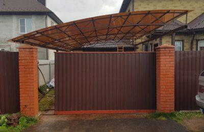 Односкатный арочный навес — 5 х 8 метров