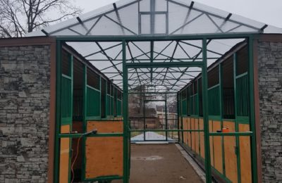 Зеленоград — Навес 3х12 метров над конюшней