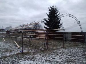 Каркас арочного ангара 7.5 х 15 метров