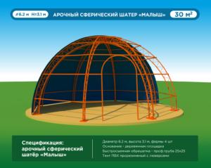 чертеж купольного дома
