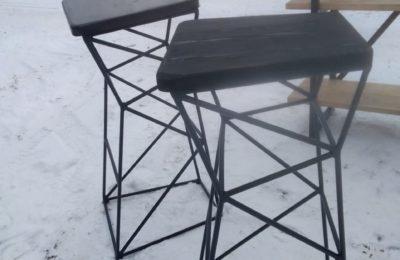 Барные стулья лофт из прутка