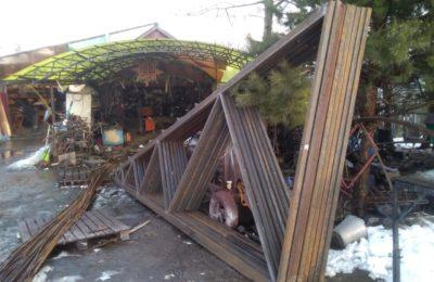 ферма из металла 12 метров треугольная