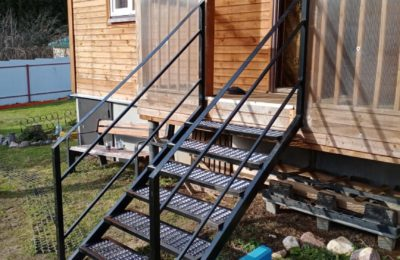 Каркас металлической лестницы из пвл