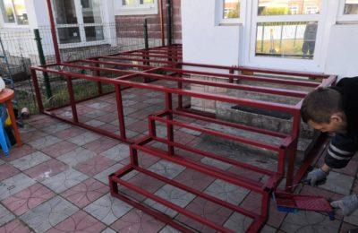 Металокаркас для лестницы для дома