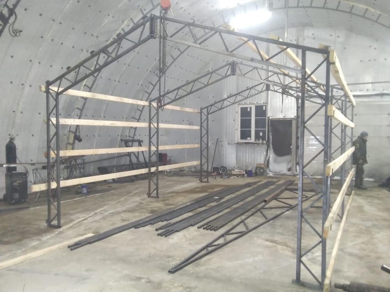фермы каркаса для гаража 4х6