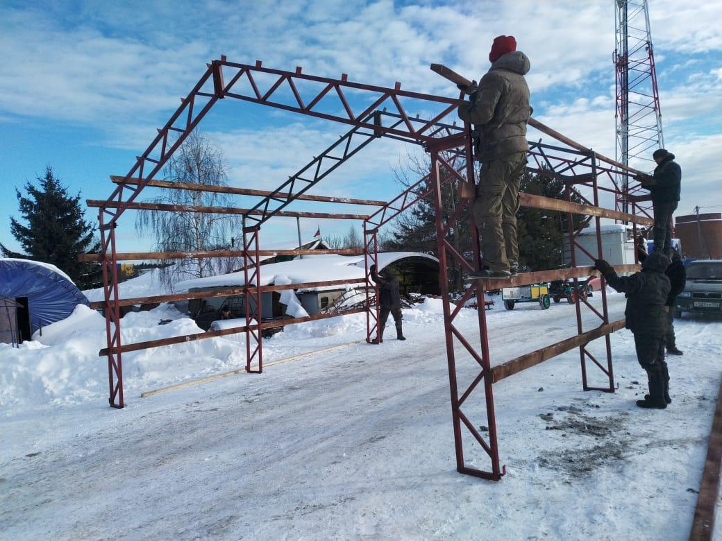 Каркас Разборного гаража 6 метров