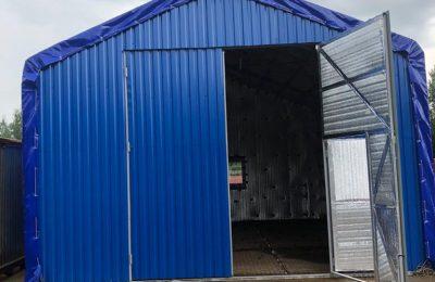 Прямостенный Тентовый гараж ангар 6х10метров
